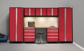 Cabinetry Set with Bamboo Work Top