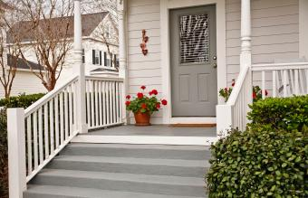 Front Porch with Geraniums