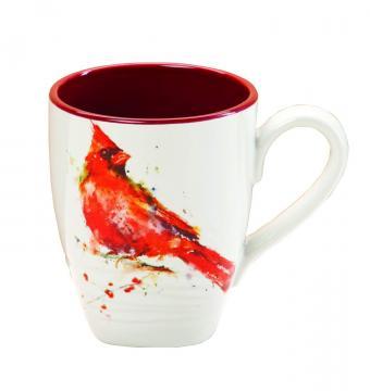 Dean Crouser Stoneware Cardinal Mug