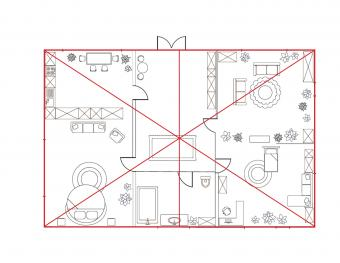 center line for protractor feng shui