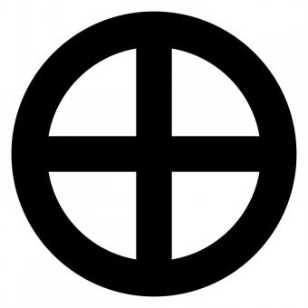 Circle with cross
