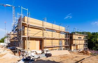 construction site of zero-energy buildings