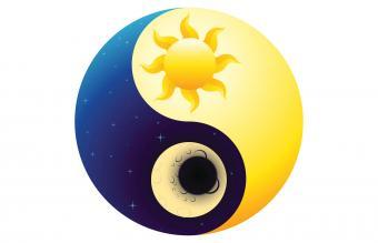 Yin and Yang Sun and Moon