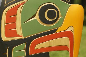 Native American eagle totem