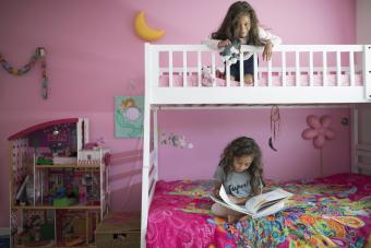 Girls' room with bunk beds