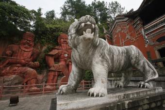 Tiger statue, Enshi