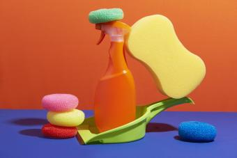 Tidy cleaning supplies