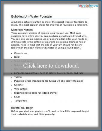 Bubbling Urn Water Fountain