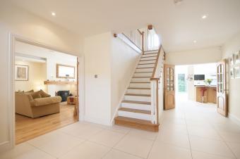 House interior staircase