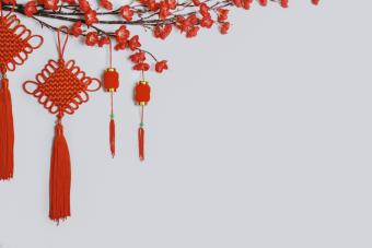 Feng Shui charms and lanterns