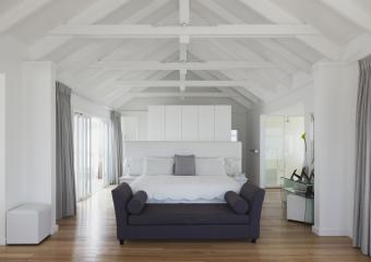 Avoid putting your bed under beams.