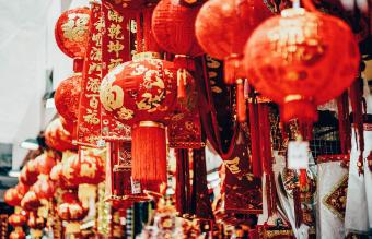 Chinese New Year decorations and ornaments