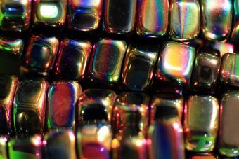 Rainbow hematite polished beads