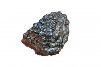 Natural gray hematite stone