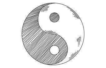 Yin Yang Drawing