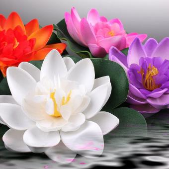 Floating Pond Decor Water Lily Lotus