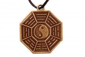 Bagua Yin and Yang Eight Symbols Amulet Octagon
