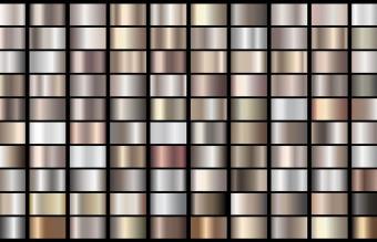 Metallic, bronze, silver, gold, chrome gradient