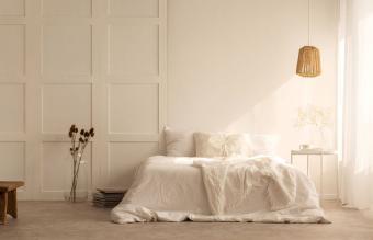 minimal bedroom interior