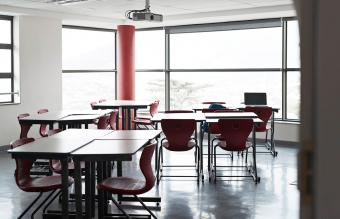 Empty classroom at school