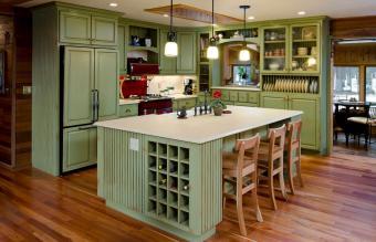 Lime green modern kitchen