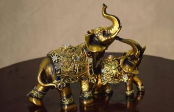 statues of two elephants