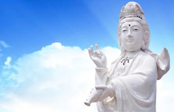 quan yin the goddess of mercy statue
