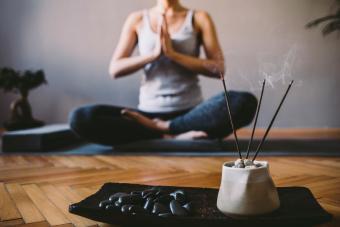 Incense burning in yoga studio