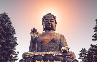 Blessing Buddha and Protection Buddha Statue
