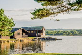 House on lake waterfront