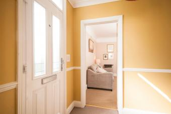 Hallway entrance into a home