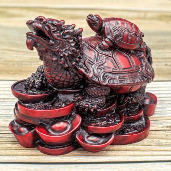 Dragon turtle Buddhist figurine