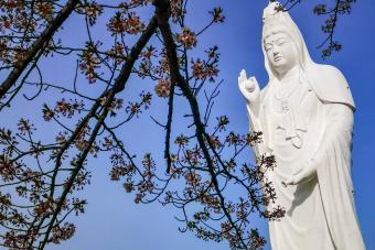 Guanyin Statue in Funaoka
