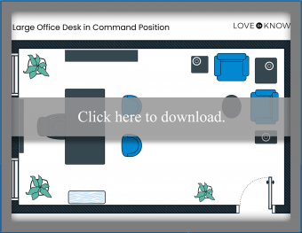Large Office Desk in Command Position