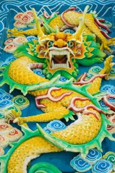 Dragon wall art in ancient China