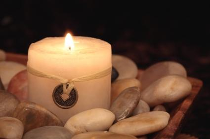Candle representing the feng shui element of fire