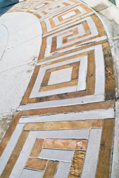 Geometric square symbols found in Greek key.