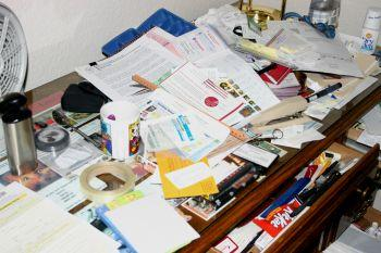 Clutter prevents proficient work.