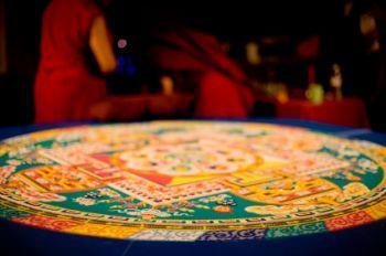 Tibetan sand mandala