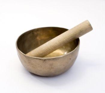 Tibetain singing bowl used during meditation.