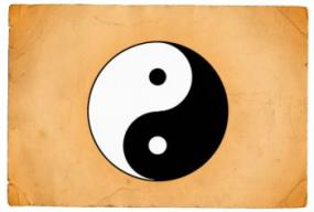 Yin yang is a blending of male and female energies.