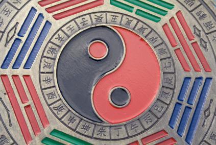 Yin yang symbol of bagua
