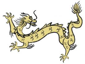 Beige Chinese Dragon