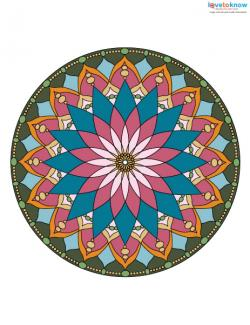 Free Mandala Designs to Print 2 color