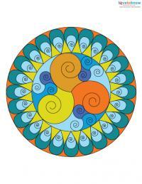 Free Mandala Designs to Print 4 color