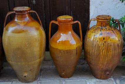 Handmade terracotta containers