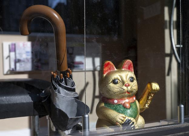 Lucky cat to attract customers