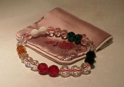 Crystal Bracelet with Five Elements