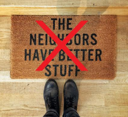 Cutesy saying door mat not recommended