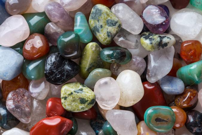 colorful mineral stones